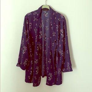 Open Front Floral Kimono/Blazer